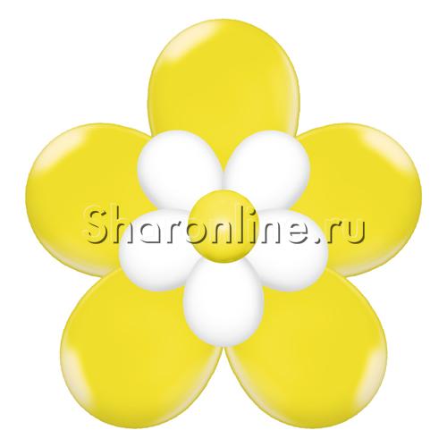 Фото №2: Цветок из шаров жёлтый