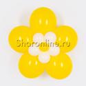 Фото №1: Цветок из шаров жёлтый