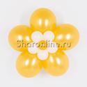 Фото №1: Цветок из шаров золотой