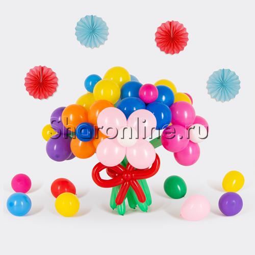 """Фото №1: Цветы из шаров """"Ассорти"""""""