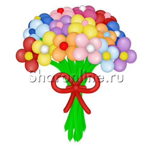 """Фото №2: Цветы из шаров """"Ассорти"""""""