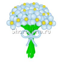 Цветы из шаров голубые