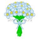 Фото №2: Цветы из голубых шаров