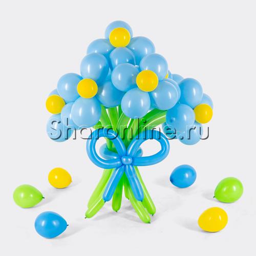 Фото №1: Цветы из голубых шаров
