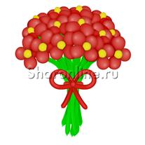 Цветы из шаров красные