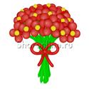 Фото №1: Цветы из красных шаров