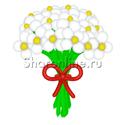 """Фото №2: Цветы из шаров """"Ромашки"""""""
