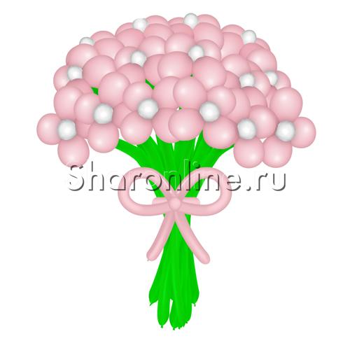 Фото №1: Цветы из розовых шаров