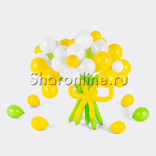 Фото №1: Цветы из желто-белых шаров