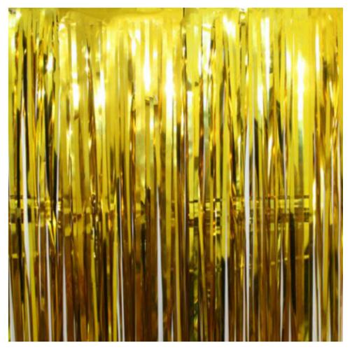 """Фото №1: Дождик """"Занавес"""" золото 91x240 см"""