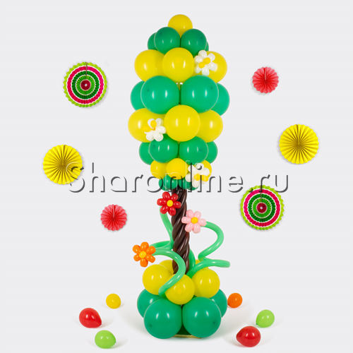 """Фото №1: Фигура из шаров """"Цветущее дерево"""""""