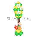 """Фото №2: Фигура из шаров """"Цветущее дерево"""""""