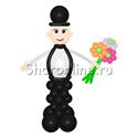 """Фото №2: Фигура из шаров """"Джентльмен"""""""