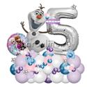 """Фото №2: Фигура из шаров """"Холодное сердце"""" с цифрой"""