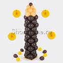 """Фото №1: Фигура из шаров """"Карандаш коричневый"""" большой"""