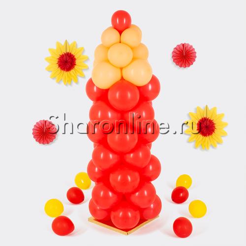 """Фото №1: Фигура из шаров """"Карандаш красный"""" маленький"""