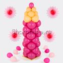 """Фото №1: Фигура из шаров """"Карандаш малиновый"""" маленький"""