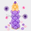 """Фото №1: Фигура из шаров """"Карандаш сиреневый"""" маленький"""