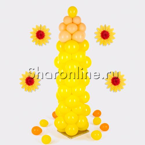 "Фото №1: Фигура из шаров ""Карандаш жёлтый"" большой"