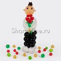 """Фото №1: Фигура из шаров """"Кавалер"""""""