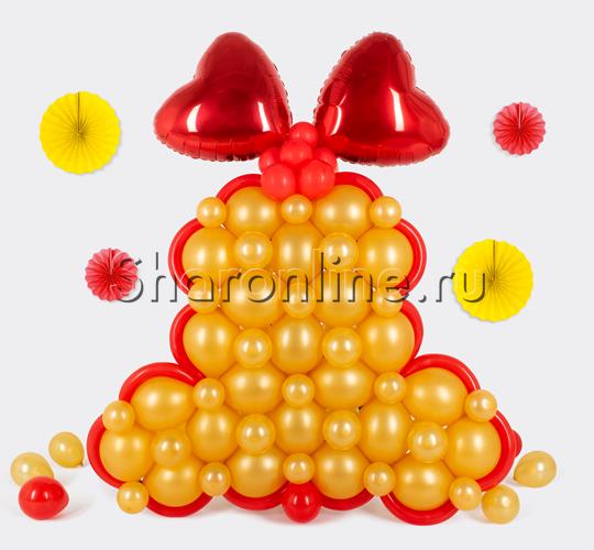 """Фото №1: Фигура из шаров """"Колокольчик"""" плоский"""