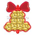 """Фото №2: Фигура из шаров """"Колокольчик"""" плоский"""