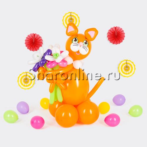 """Фото №2: Фигура из шаров """"Кот Тишка"""""""