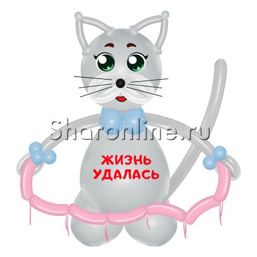 """Фото №2: Фигура из шаров """"Кот Василий"""""""