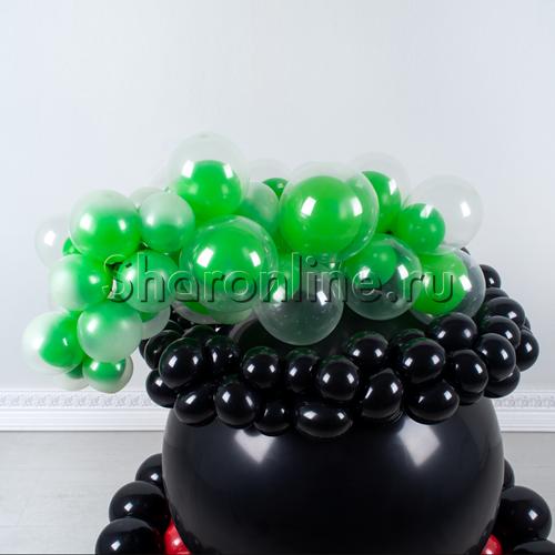 """Фото №3: Фигура из шаров """"Котел ведьмы"""""""