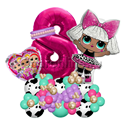 "Фото №2: Фигура из шаров ""Кукла"" Дива с цифрой"