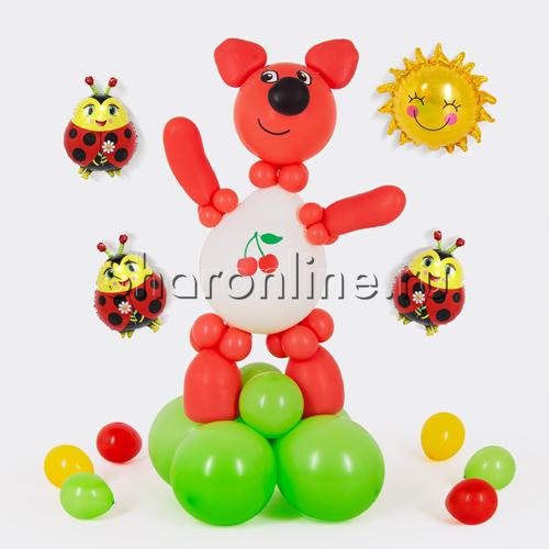 "Фото №1: Фигура из шаров ""Лисичка"" Ми-ми-мишки"