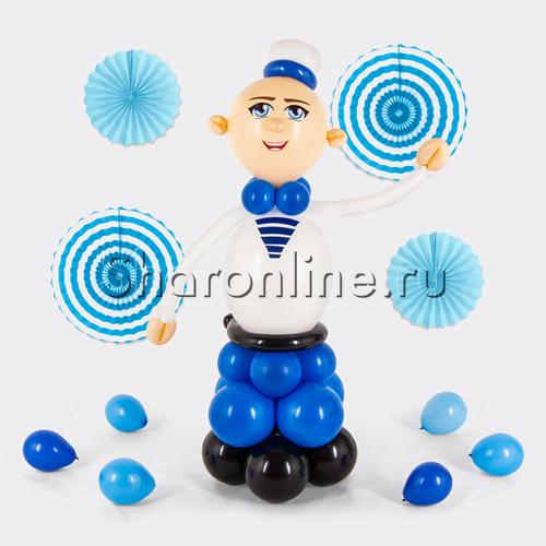 """Фото №1: Фигура из шаров """"Матрос"""""""