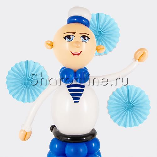 """Фото №3: Фигура из шаров """"Матрос"""""""