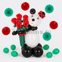 """Фото №1: Фигура из шаров """"Милая Панда"""""""