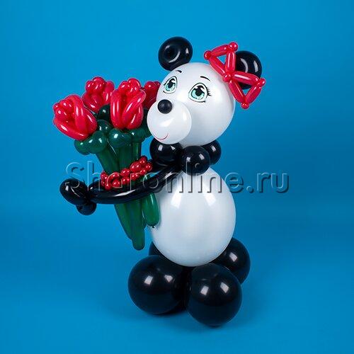 """Фото №2: Фигура из шаров """"Милая Панда"""""""