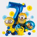 """Фото №1: Фигура из шаров """"Миньоны"""" с цифрой"""