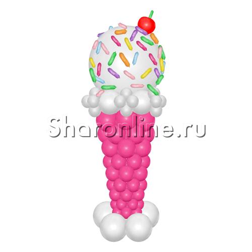 """Фото №1: Фигура из шаров """"Мороженое"""""""
