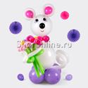"""Фото №1: Фигура из шаров """"Мышка"""""""