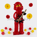 """Фото №2: Фигура из шаров Ниндзяго """"Кай"""""""