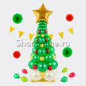 """Фото №1: Фигура из шаров """"Новогодняя елка"""""""