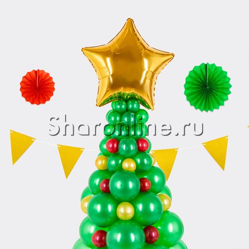 """Фото №2: Фигура из шаров """"Новогодняя елка"""""""