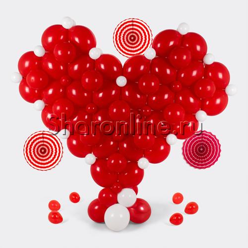"""Фото №1: Фигура из шаров """"Объёмное сердце"""""""