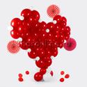 """Фото №2: Фигура из шаров """"Объёмное сердце"""""""