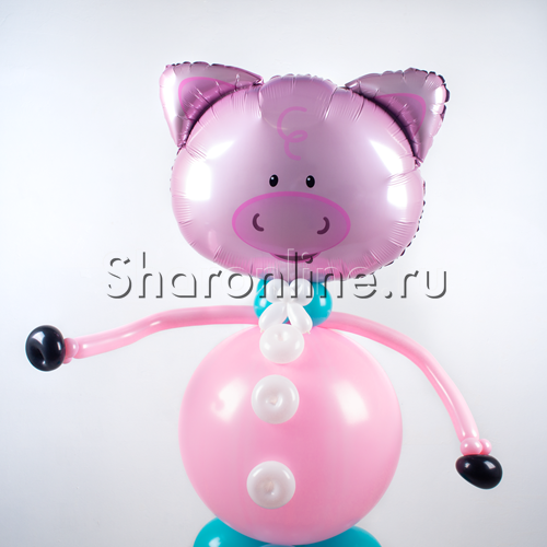 """Фото №2: Фигура из шаров """"Поросенок"""""""