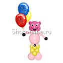 """Фото №1: Фигура из шаров """"Поросенок"""" маленький"""