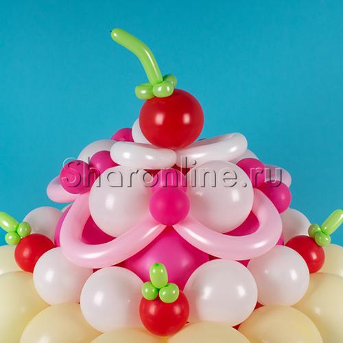 """Фото №2: Фигура из шаров """"Праздничный торт"""""""