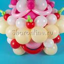 """Фото №3: Фигура из шаров """"Праздничный торт"""""""