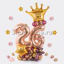 """Фото №1: Фигура из шаров """"Розовое золото"""""""