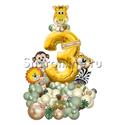 """Фото №2: Фигура из шаров """"Сафари"""" с цифрой"""
