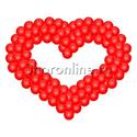 """Фото №1: Фигура из шаров """"Сердце"""""""
